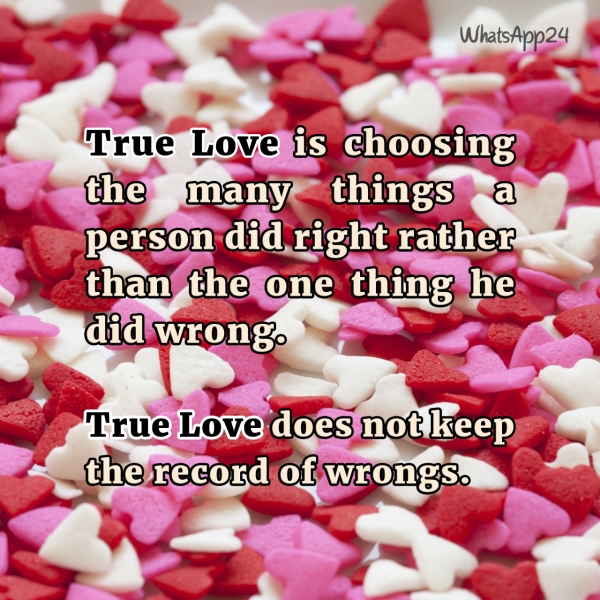 love does not keep record of wrongs