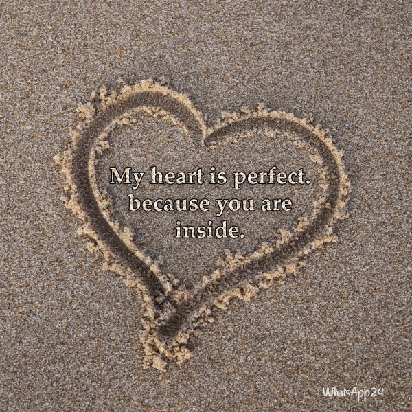 Image result for My heart is perfect because you are inside\